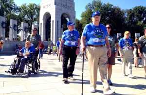 WWII vets at memorial